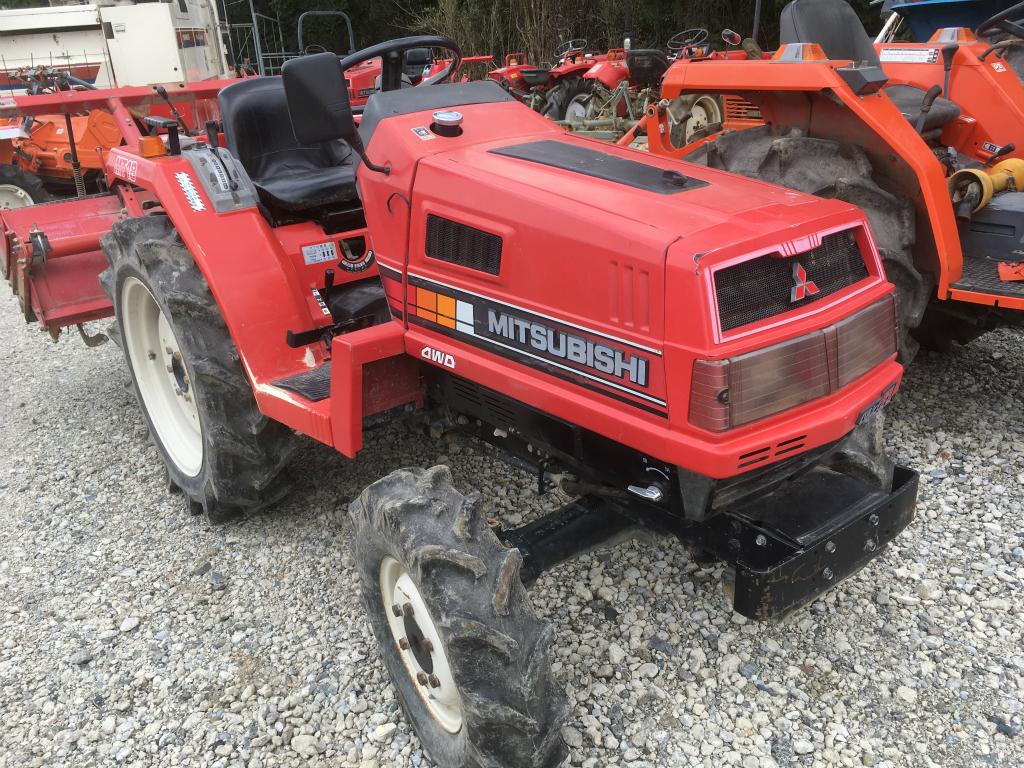 Mitsubishi Compact Tractors : Mitsubishi mt d used compact tractor khs japan